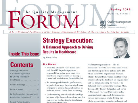 Strategy Execution: A Balanced Approach to Driving Results in Healthcare